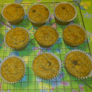 Yummy Banana Vegan Chip Muffins!