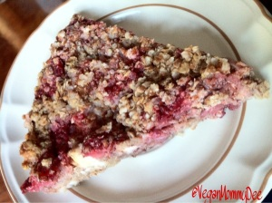 A slice of Strawberry Quinoa bake