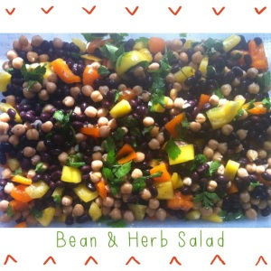 Simple & Easy Bean And Herb Salad!
