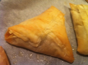 Baked Mushroom Triangles