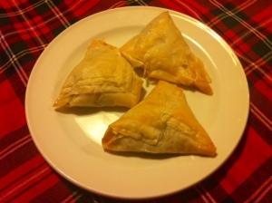My baked Garlicky Mushroom Phyllo Triangles!