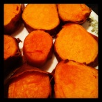 Reasted sweet potatoes